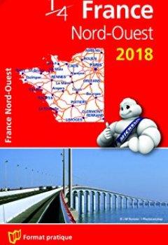 Livres Couvertures de Carte France Nord-Ouest Michelin 2018