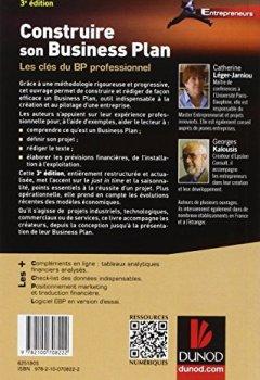 Livres Couvertures de Construire son business plan - 3e éd.