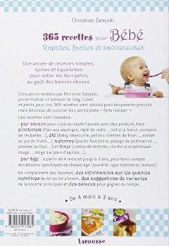 Livres Couvertures de 365 recettes pour bébé: De 4mois à 3 ans