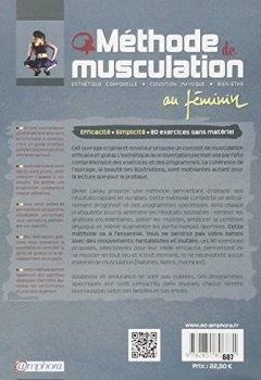 Livres Couvertures de Méthode de musculation au féminin : 80 exercices sans matériel