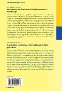 Livres Couvertures de Décomposition-coordination en optimisation déterministe et stochastique