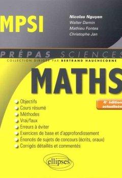 Livres Couvertures de Mathématiques MPSI - 4e édition actualisée