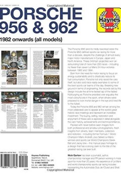 Livres Couvertures de Haynes Porsche 956 & 962: 1982 Onwards (All Models)