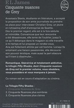 Livres Couvertures de Cinquante nuances de Grey (Fifty Shades, Tome 1)