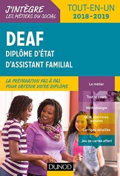 Livres Couvertures de DEAF - Tout-en-un 2018-2019 - Diplôme d'État d'assistant familial