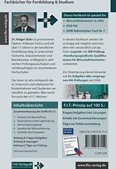 Abdeckungen F.I.T. zur IHK-Prüfung in Logistik: Handlungsspezifische Qualifikationen für Wirtschaftsfachwirte (Fachbücher für Fortbildung & Studium)