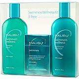 Malibu Swimmers Wellness treatment Kit, 9 oz Shampoo, 9 oz Conditioner and 0.17 oz Wellness Treatment