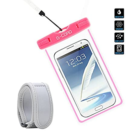 Material: TPU Fully expanded inner size: 6.0 x 3.3 Inch Lanyard: 16.5 inch Package Contents: 1 x Waterproof Case 1 x Armband 1 x Lanyard Universal Compatible with all touch phones, it works with the latest high end devices suc...