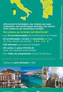 Livres Couvertures de Guide Vert Sardaigne Michelin
