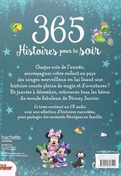 Livres Couvertures de Histoires pour les Tout Petits, Disney junior , 365 HISTOIRES POUR LE SOIR + CD