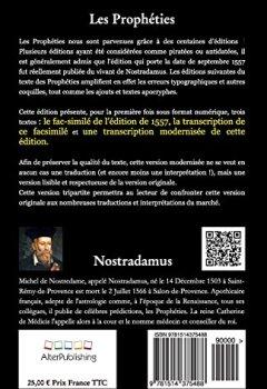 Livres Couvertures de Les prophéties: Facsimilé et texte de l'édition originelle 1557 et version modernisée