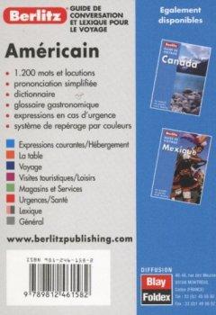Livres Couvertures de Guide de conservation et lexique pour le voyage : Américain