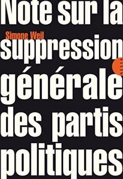 Livres Couvertures de Note sur la suppression générale des partis politiques