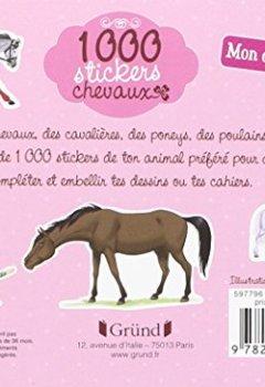 Livres Couvertures de 1 000 stickers chevaux