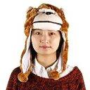 スポッとかぶれる あったか もこもこ 動物 帽子(ゴリラ) a411e