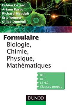 Livres Couvertures de Formulaire de Biologie, Chimie, Physique, Mathématiques (Sciences Sup)