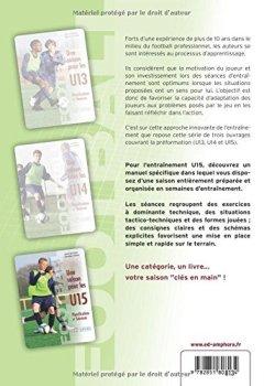 Livres Couvertures de Football - une saison pour les U15 - Planification et séances