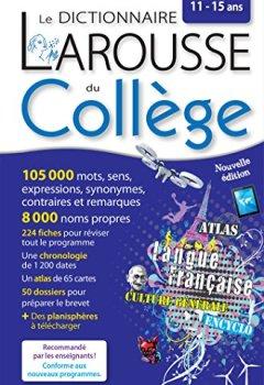 Livres Couvertures de Larousse dictionnaire du Collège