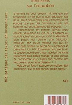 Livres Couvertures de Reflexions sur l'education