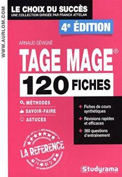 Livres Couvertures de 120 fiches Tage Mage