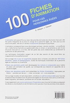 Livres Couvertures de 100 fiches d'animation pour les personnes âgées