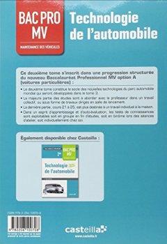 Livres Couvertures de Technologie automobile 1re BAC PRO maintenance des véhicules : Livre de l'élève
