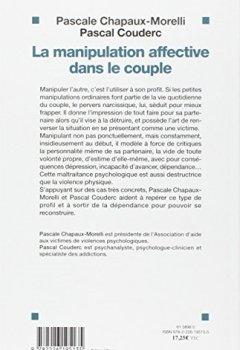 Livres Couvertures de La manipulation affective dans le couple : Faire face à un pervers narcissique