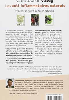 Livres Couvertures de Les anti-inflammatoires naturels : Prévenir et guérir de façon naturelle