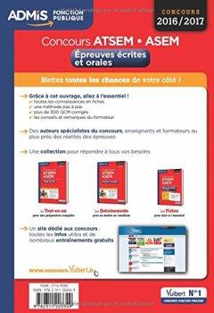Livres Couvertures de Concours ATSEM et ASEM - Épreuves écrite et orale - L'essentiel en 60 fiches - Catégorie C - Concours 2016-2017