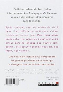 Livres Couvertures de Au coeur des 5 langages de l'amour : Le secret des couples qui durent (L'édition cadeau)