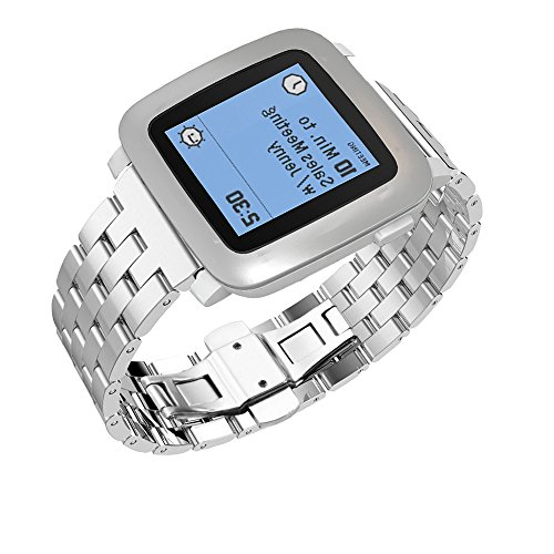 Pebble-Time-Watch-Band-Monoy-Deluxe-Stainless-Steel-Metal-Bracelet-Watchband-Strap-Watch-Band-for-Pebble-Time-Sliver-Stainless-Steel-Band