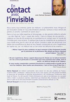 Livres Couvertures de En contact avec l'invisible -Témoignage d'un médium sur l'au-delà