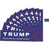 "10 Packs Donald Trump Make America Great Again Bumper Sticker (3x9"" ) & 10 Packs Lapel Pin Decal (Trump Star Red)"