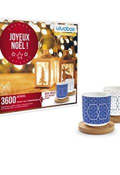Livres Couvertures de VIVABOX - Coffret cadeau - JOYEUX NOEL ! - Inclus 3600 activités au choix + Deux tasses avec soucoupes en bois. Coffret d'activités valable 3 ans à partir de la date d'achat.
