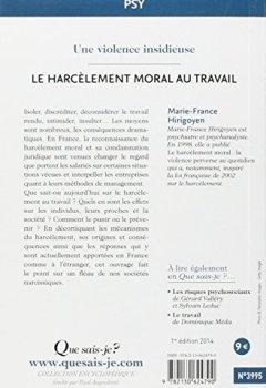 Livres Couvertures de Le harcèlement moral au travail