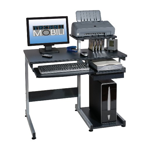 Picture of Comfortable Mad Tech 30x22x38 Graphite Mdf Panel & Steel Frame Computer Office Desk Table (B004W0MCUU) (Computer Desks)