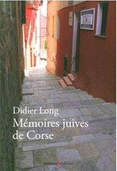 Livres Couvertures de Mémoires juives de Corse