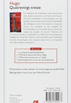 Livres Couvertures de La bibliothèque idéale des 50 ans GF, Tome 8 : Quatrevingt-treize