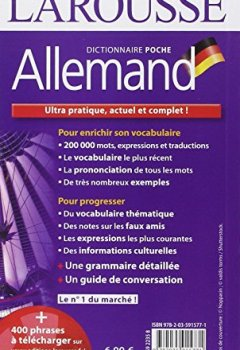 Livres Couvertures de Dictionnaire Larousse poche Allemand