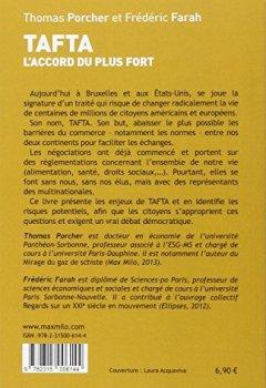 Livres Couvertures de TAFTA : L'accord du plus fort
