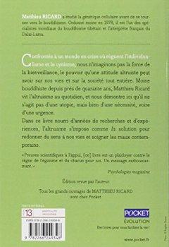 Livres Couvertures de Plaidoyer pour l'altruisme