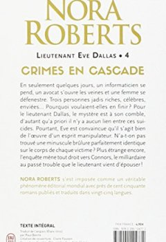 Livres Couvertures de Lieutenant Eve Dallas, Tome 4 : Crimes en cascade