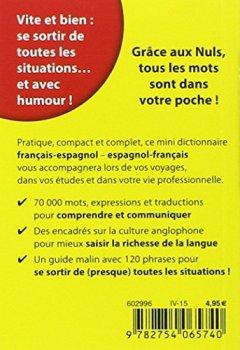 Livres Couvertures de Mini-dictionnaire espagnol-français français-espagnol Pour les Nuls
