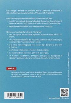 Livres Couvertures de Réussir l'Épreuve d'Espagnol BTS Commerce International à Référentiel Commun Européen E2