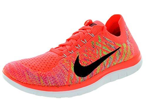 Nike Wmns Free 4.0 Flyknit Damenschuhe (717076-800) (38.5, Pink)