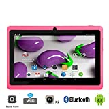 "Tagital® T7X 7"" Quad Core Android 4.4 KitKat Tablet PC, Bluetooth, Dual Camera, Google Play Store Pre-installed, 3D Game Supported, 2015 Newest Model- Pink"