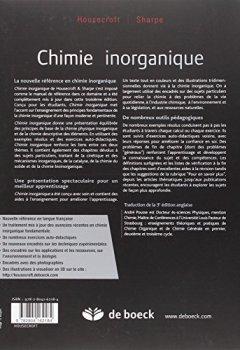 Livres Couvertures de Chimie inorganique