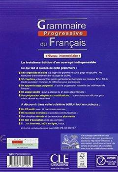 Grammaire progressive du français - Niveau intermédiaire - Livre + CD + Livre-web - 3ème édition de Indie Author