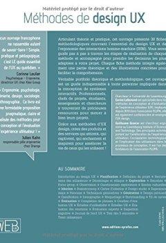 Livres Couvertures de Méthodes de design UX. 30 méthodes fondamentales pour concevoir et évaluer les systèmes interactifs
