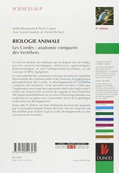Livres Couvertures de Biologie animale - Les Cordés - 9ème édition - Anatomie comparée des vertébrés